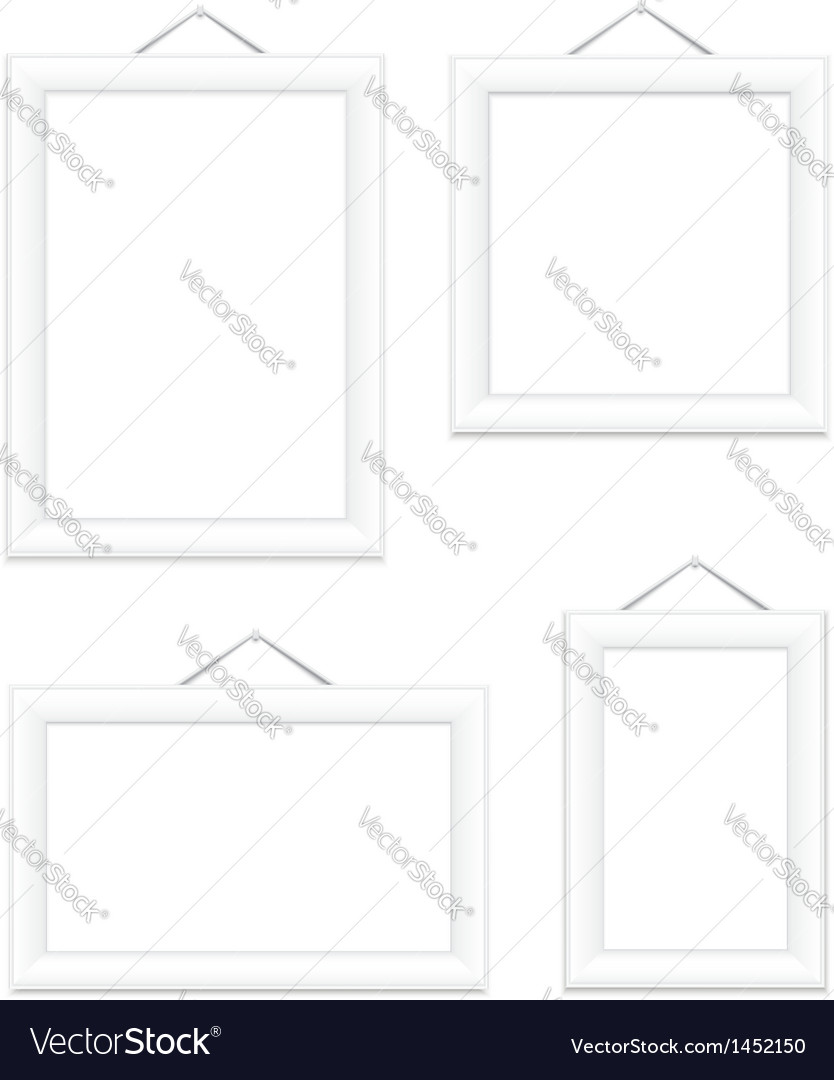 Photo frames white vector | Price: 1 Credit (USD $1)