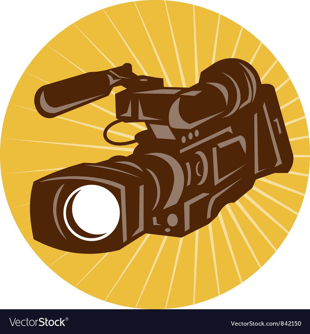 Professional video camera camcorder retro vector | Price: 1 Credit (USD $1)