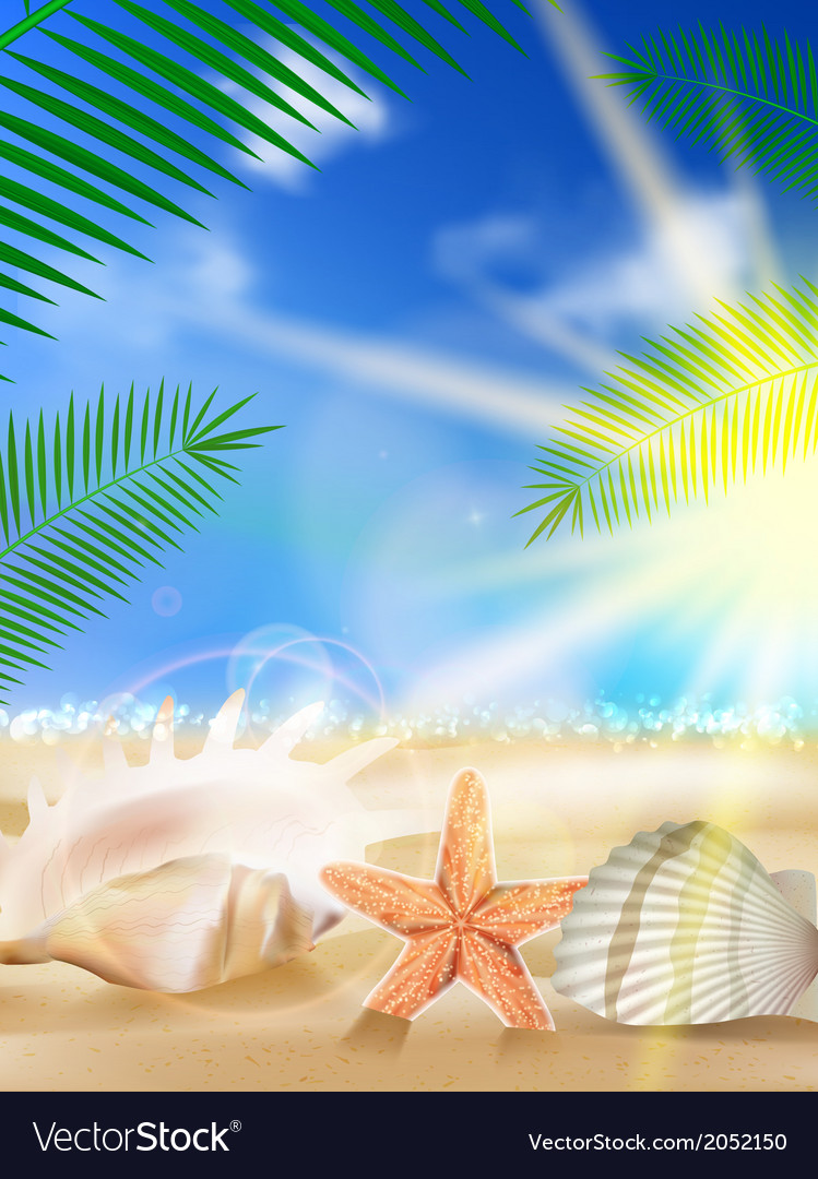 Sand sky and sea as background vector | Price: 1 Credit (USD $1)