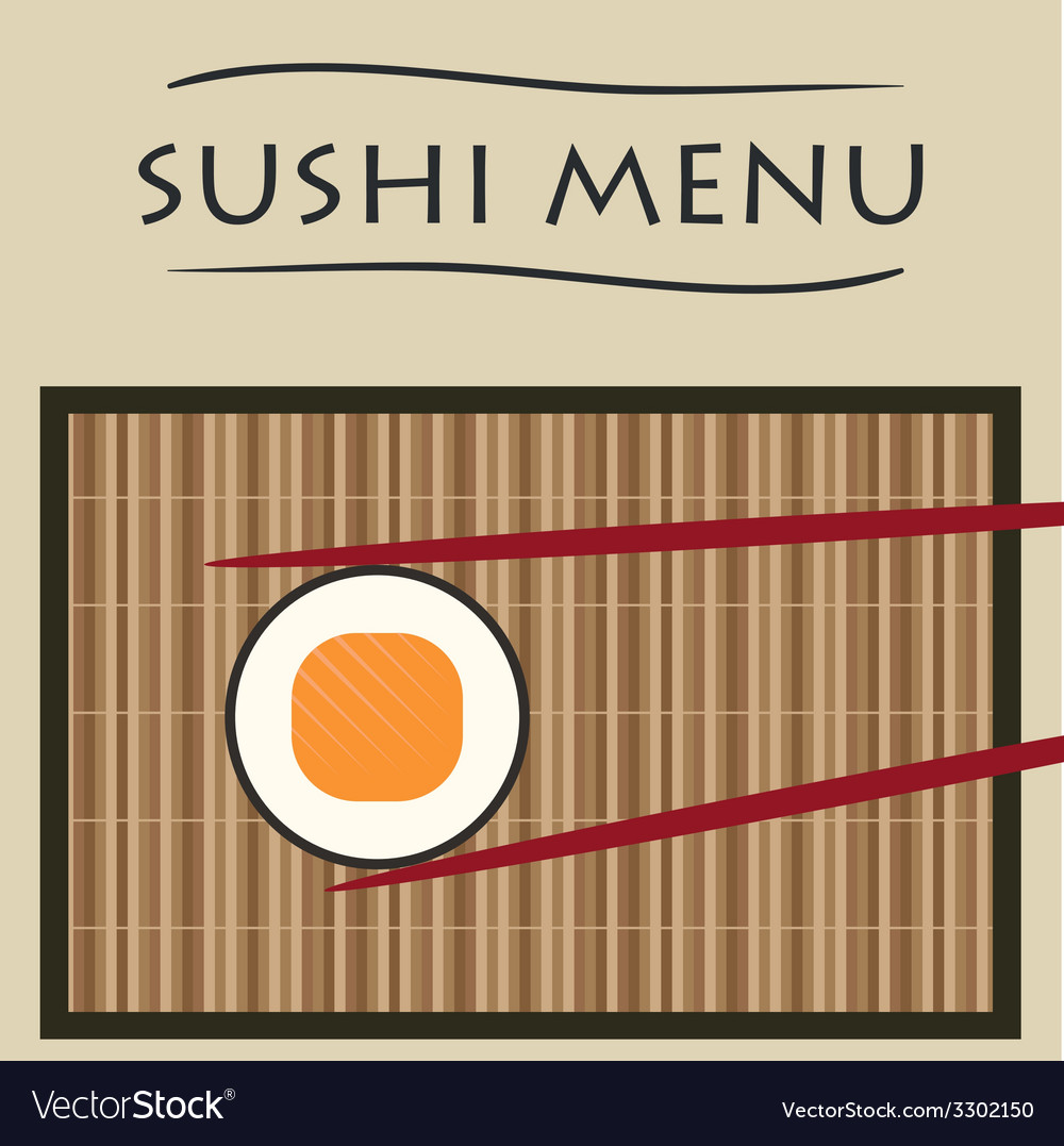 Sushi and chopsticks vector | Price: 1 Credit (USD $1)
