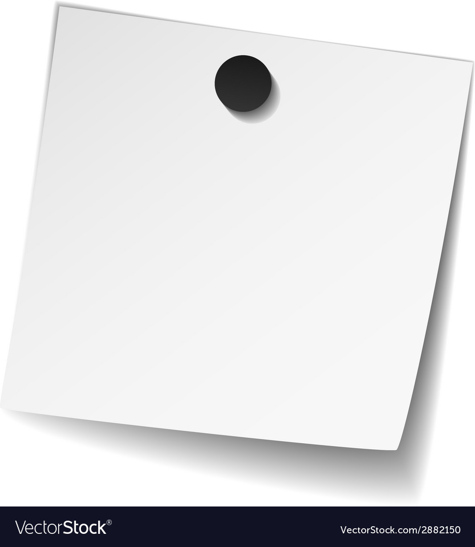 White note paper with magnet vector | Price: 1 Credit (USD $1)