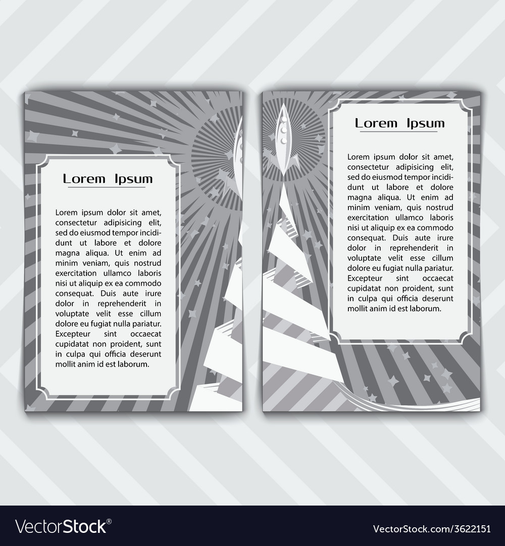 A cards with a rocket vector | Price: 1 Credit (USD $1)