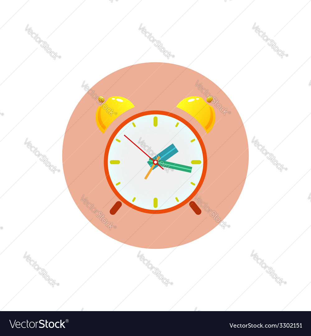 The alarm clock icon vector | Price: 1 Credit (USD $1)