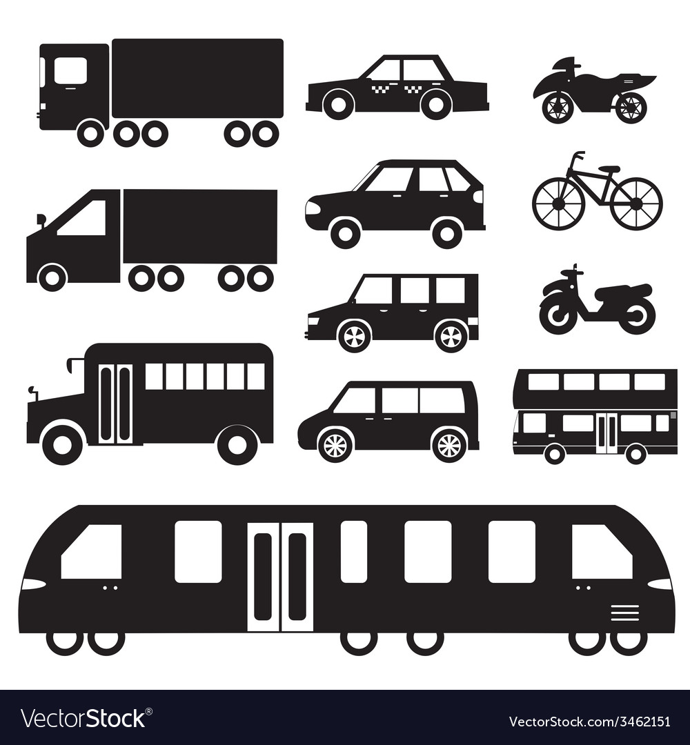 Flat cars concept set icon pictogram design tampla vector | Price: 1 Credit (USD $1)