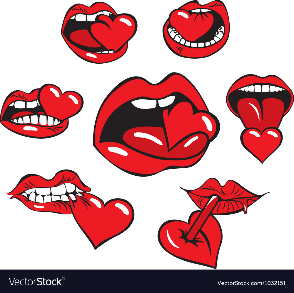 Heart mouth vector | Price: 1 Credit (USD $1)
