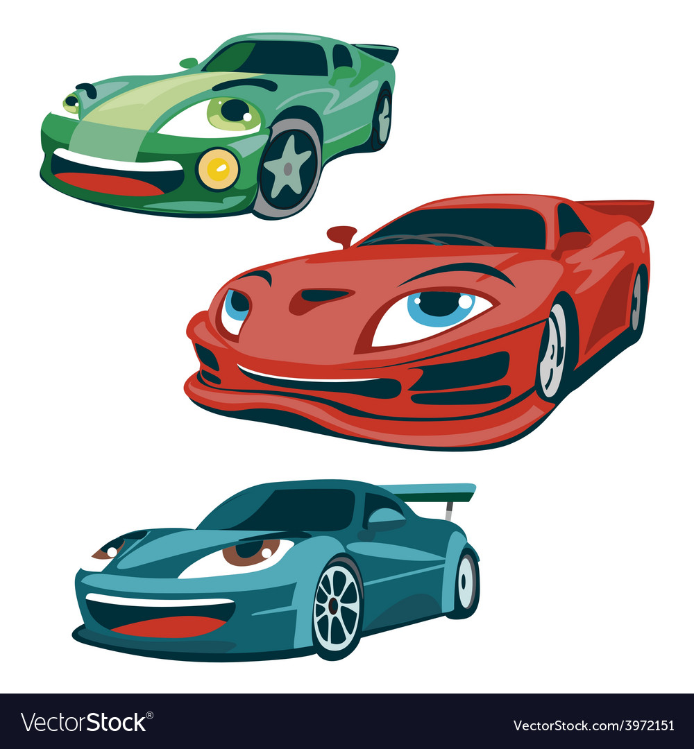 Race cars characters vector | Price: 1 Credit (USD $1)