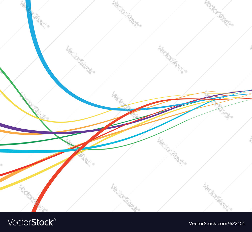 Rainbow abstract wave vector | Price: 1 Credit (USD $1)