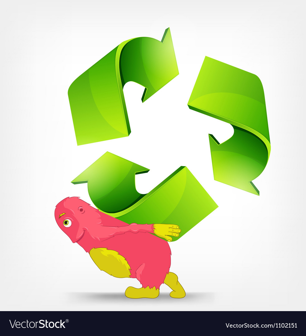 Recycle sign vector | Price: 3 Credit (USD $3)