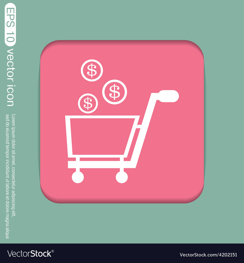 Shopping cart with money vector | Price: 1 Credit (USD $1)
