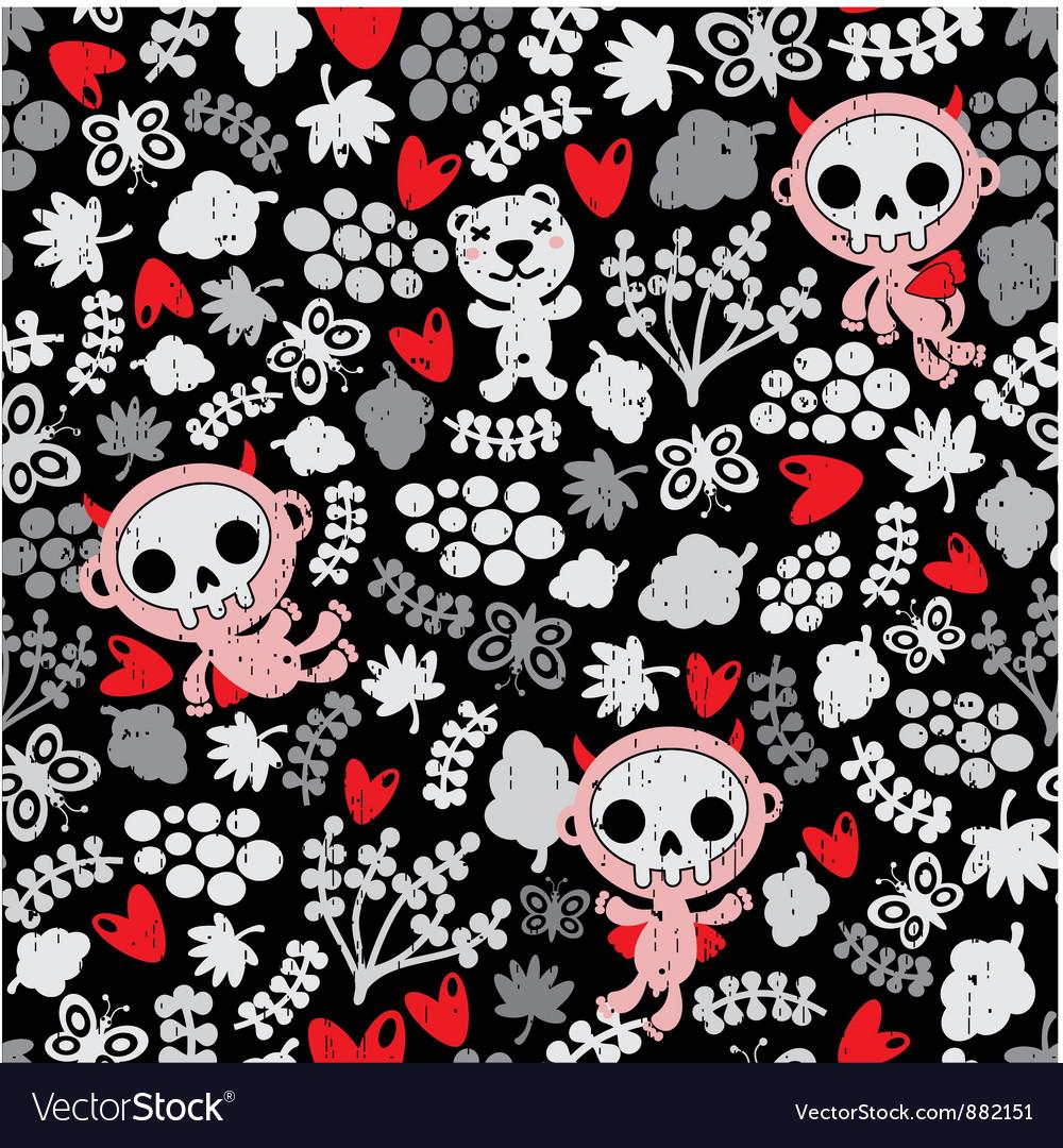 Skull creatures vector | Price: 1 Credit (USD $1)