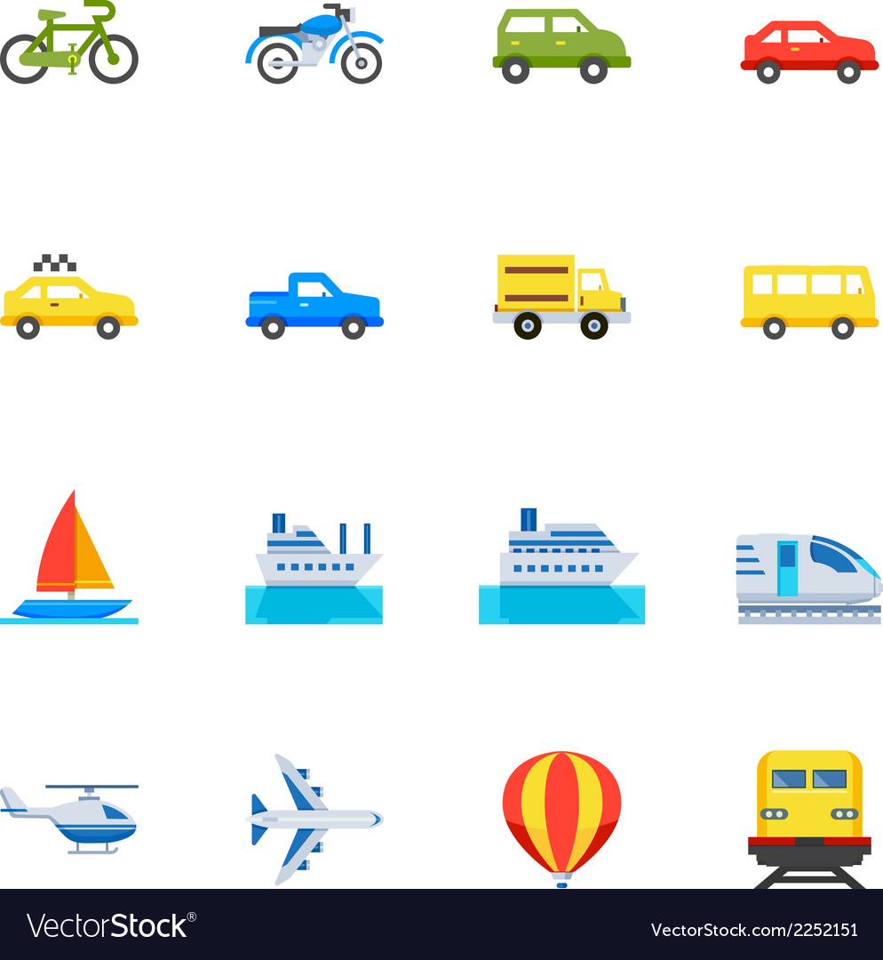 Transportation and vehicles icons vector   Price: 1 Credit (USD $1)