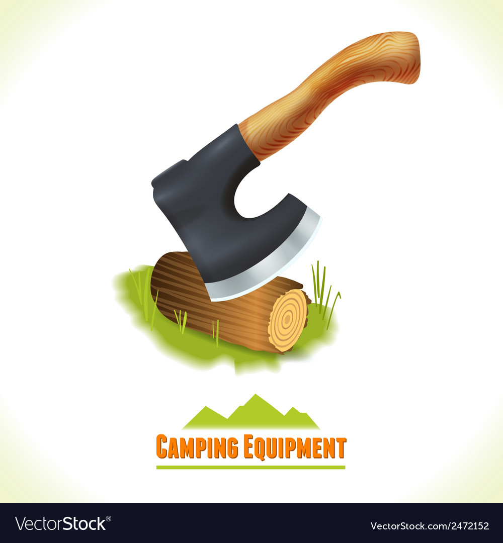 Camping symbol axe vector | Price: 1 Credit (USD $1)