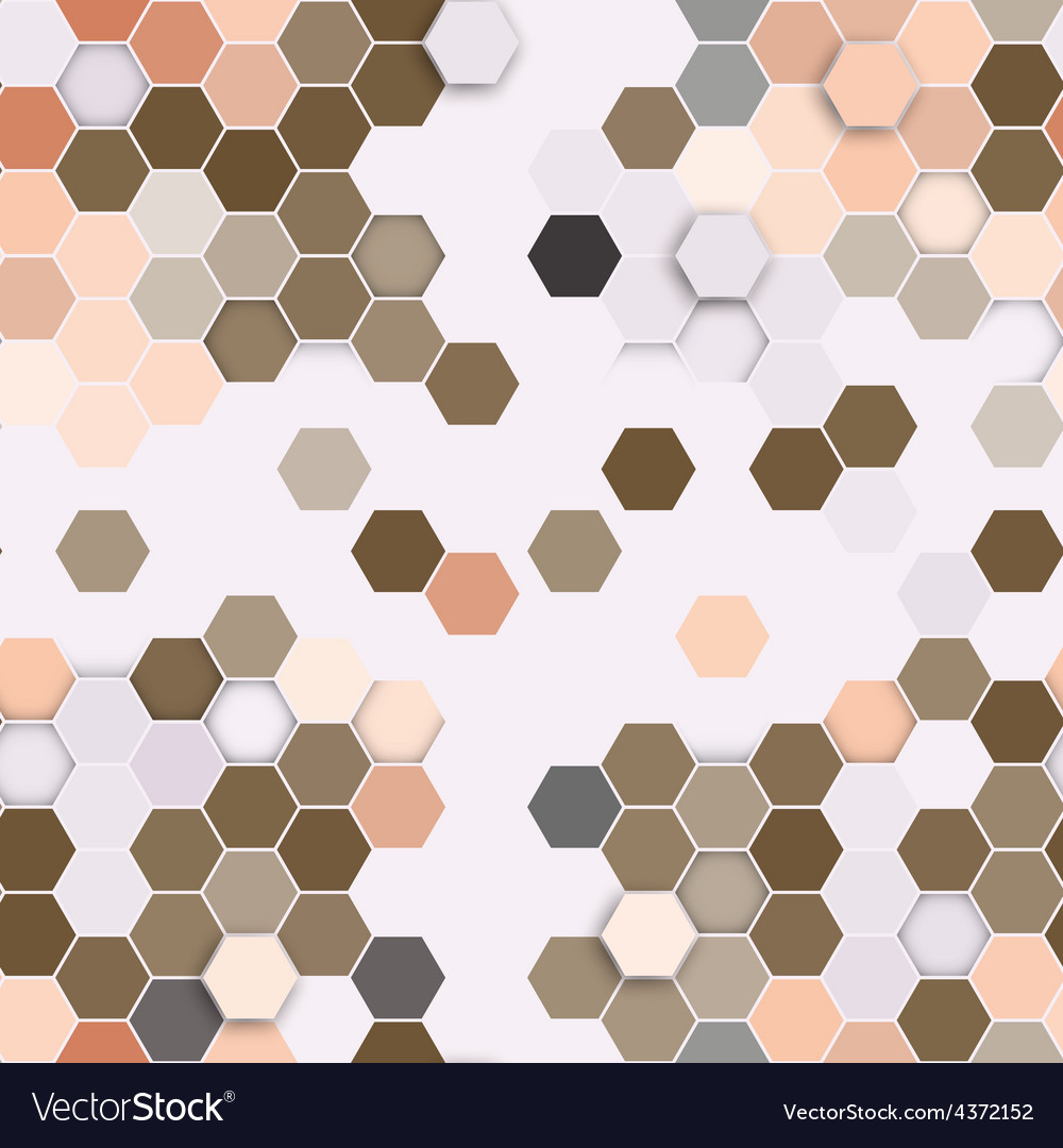 Hexagonal seamless pattern repeating geometric vector | Price: 1 Credit (USD $1)