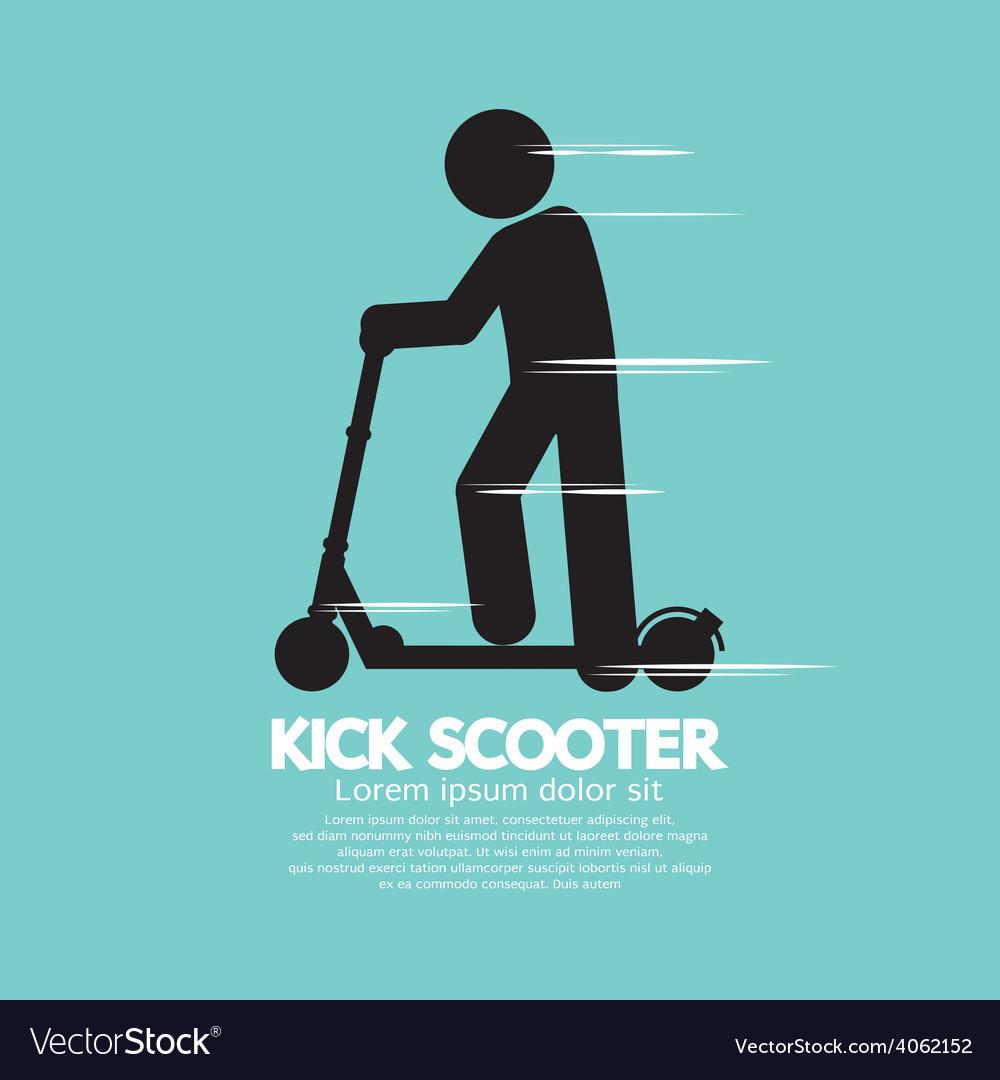 Kick scooter black symbol vector | Price: 1 Credit (USD $1)