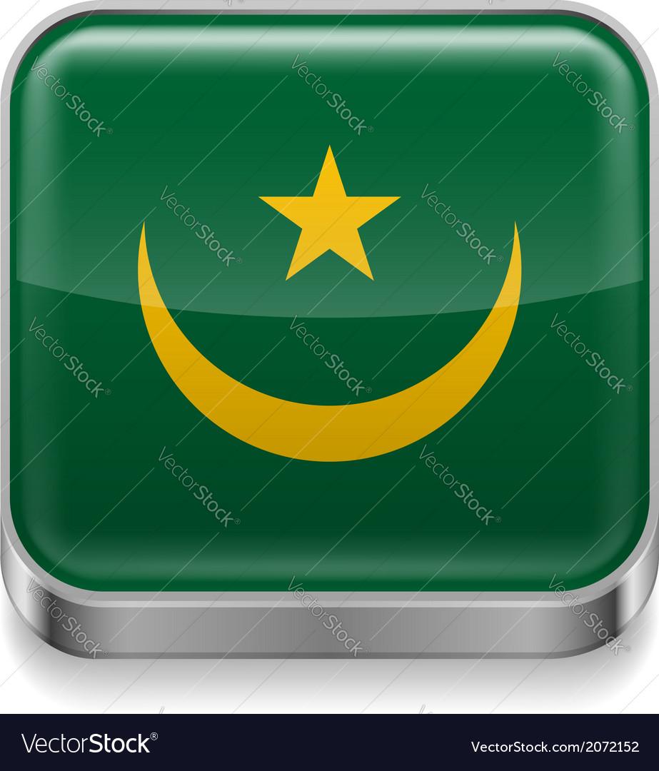 Metal icon of mauritania vector | Price: 1 Credit (USD $1)