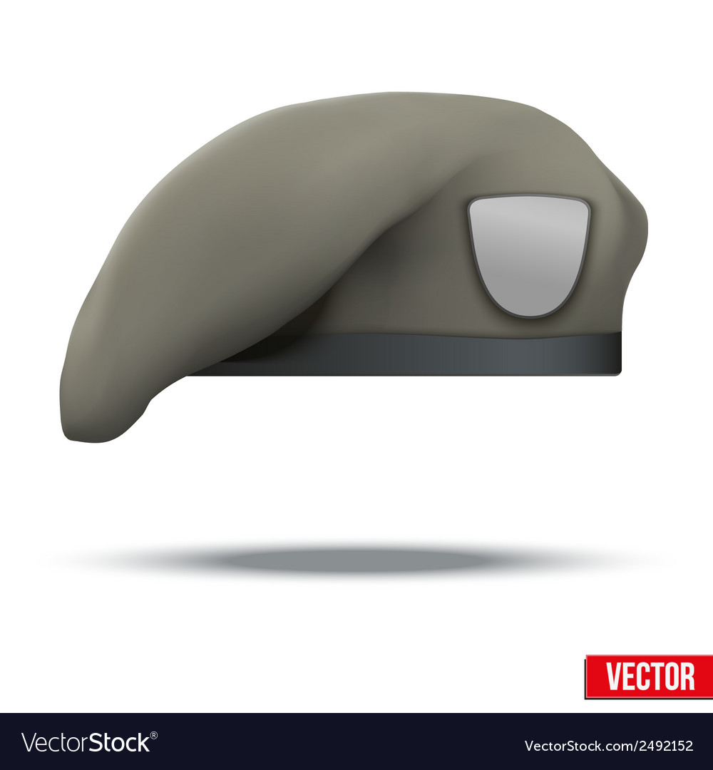 Military tan beret army special forces vector | Price: 1 Credit (USD $1)