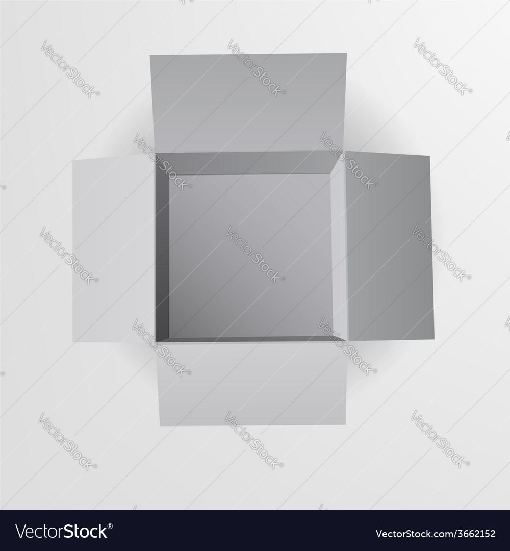 Open box top view vector | Price: 1 Credit (USD $1)