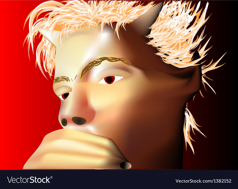 Pensive devil vector | Price: 1 Credit (USD $1)