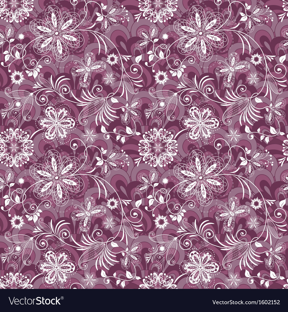 Seamless purple-white vintage pattern vector | Price: 1 Credit (USD $1)