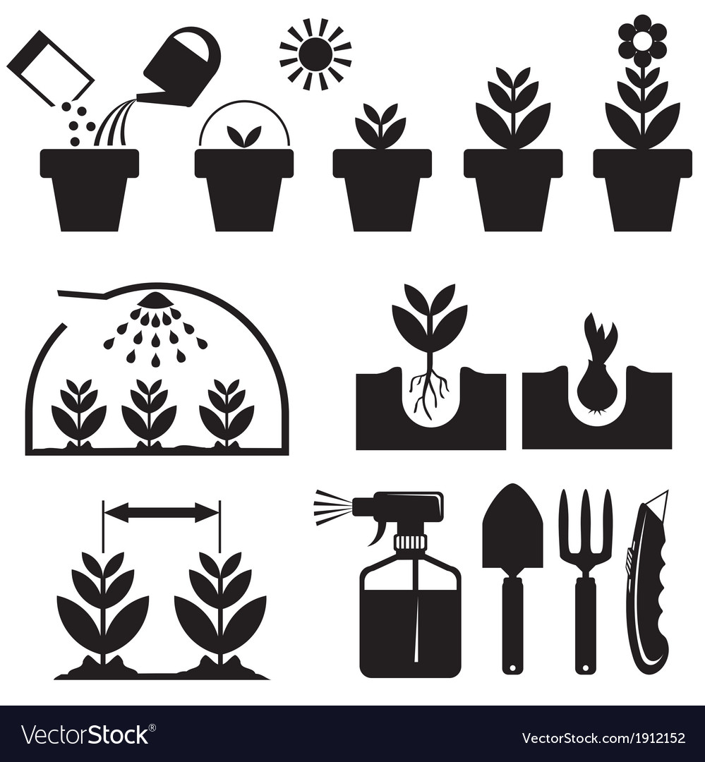 Set agrotechnics icons vector | Price: 1 Credit (USD $1)