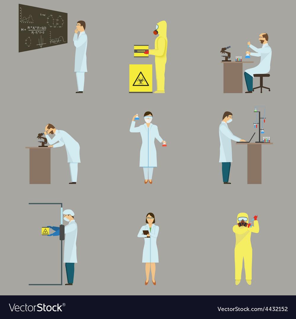 Set of scientific characters vector | Price: 1 Credit (USD $1)
