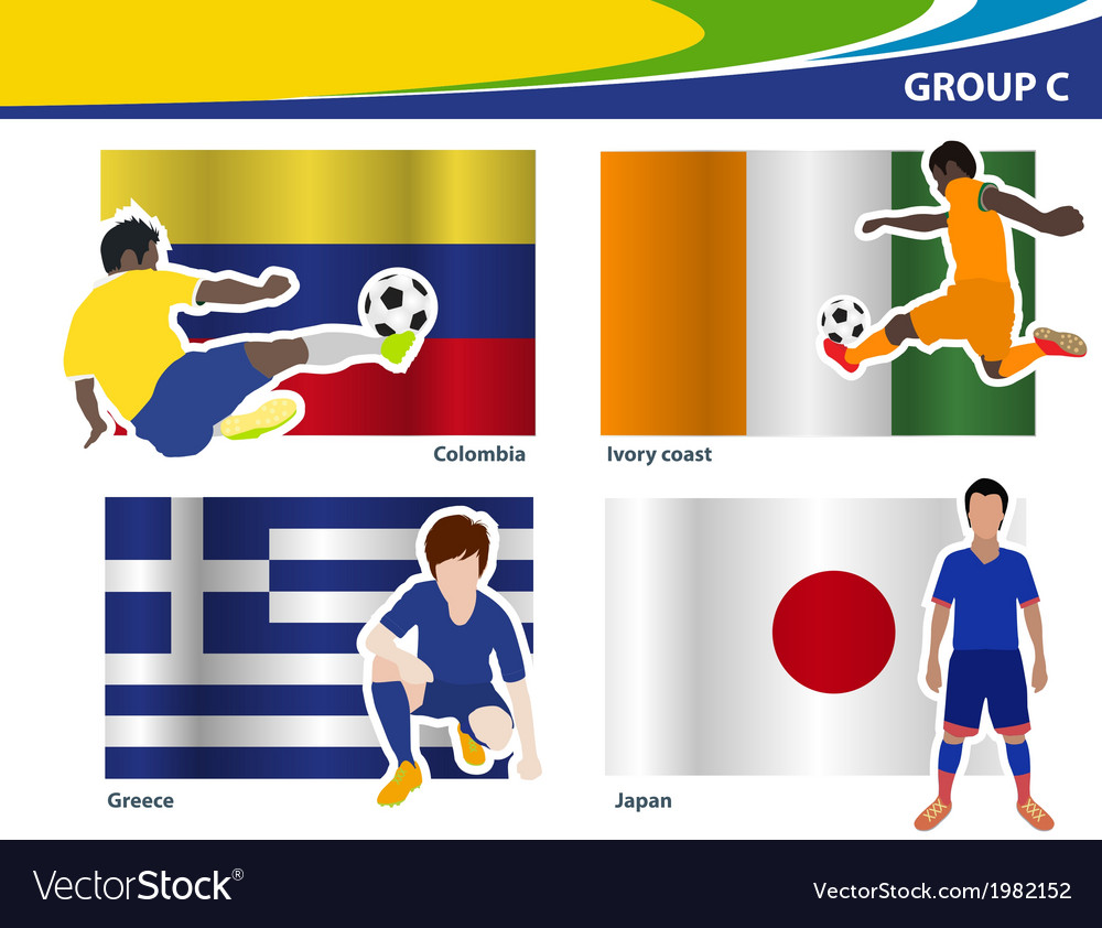 Soccer football players brazil 2014 group c vector | Price: 1 Credit (USD $1)