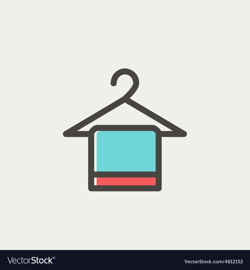 Towel on a hanger thin line icon vector | Price: 1 Credit (USD $1)