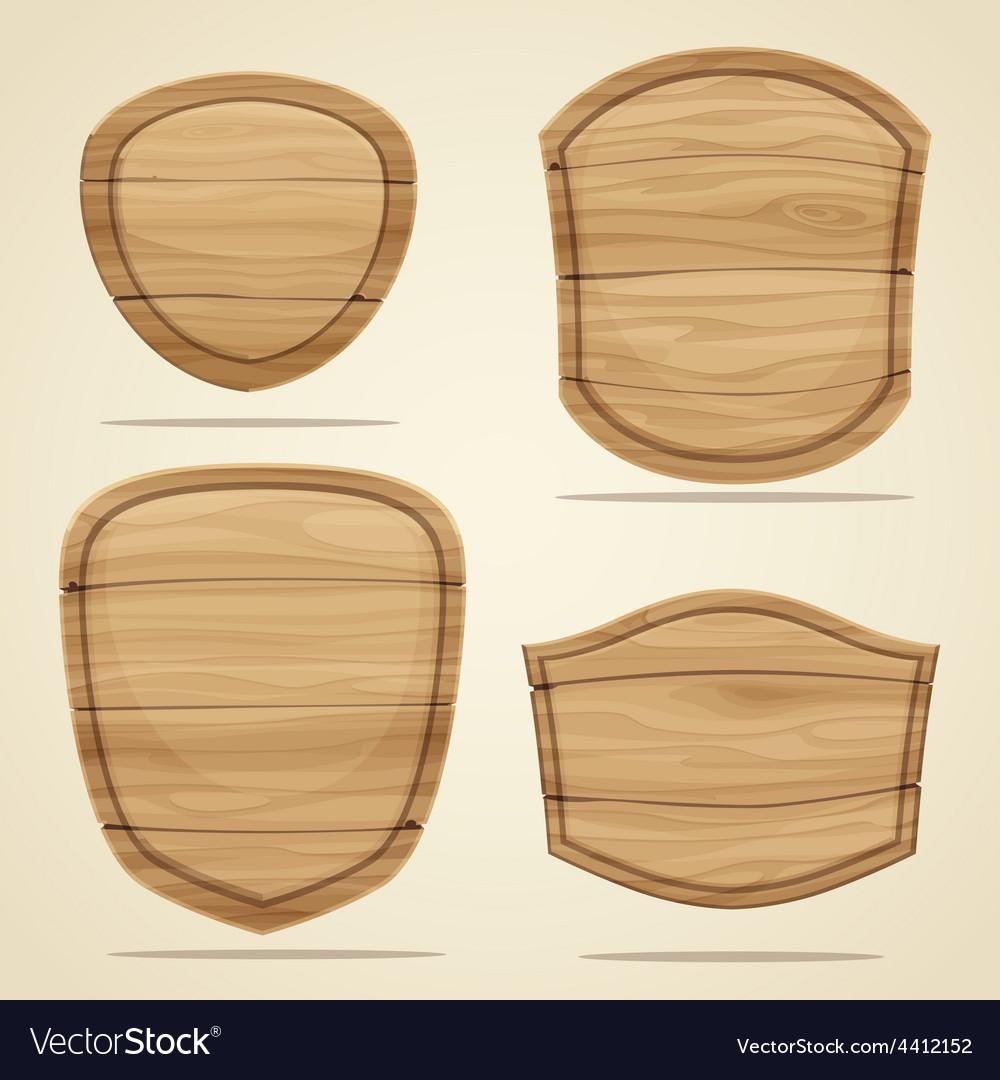 Wood elements vector