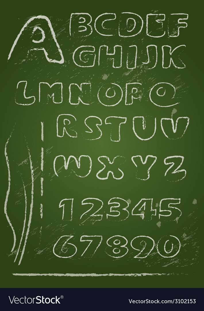 Abc blackboard 2 380 vector | Price: 1 Credit (USD $1)