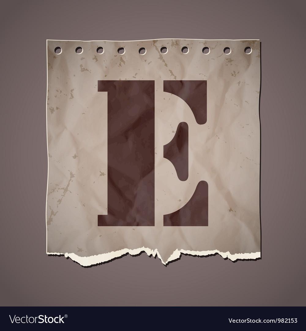 Alphabet in retro style vector | Price: 1 Credit (USD $1)