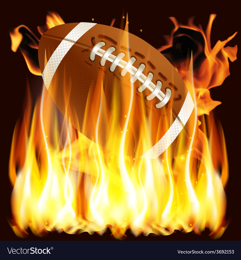 Ball for american football in the fire vector | Price: 3 Credit (USD $3)