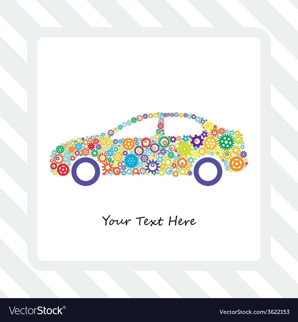 Card of the car gears vector | Price: 1 Credit (USD $1)