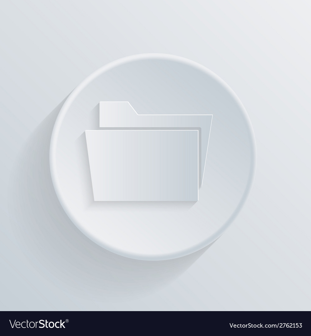 Circle icon folder for documents vector | Price: 1 Credit (USD $1)