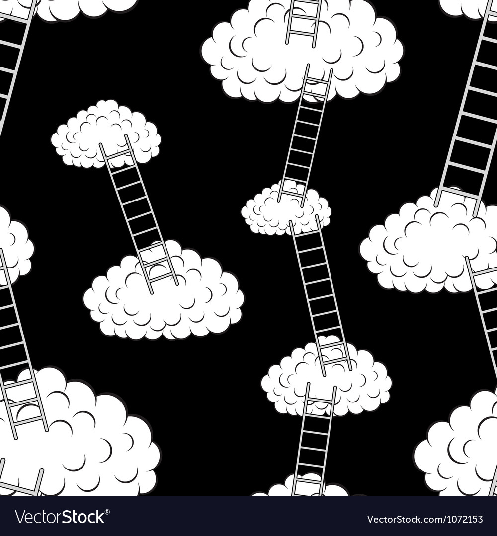Clouds with stairs seamless wallpaper vector | Price: 1 Credit (USD $1)
