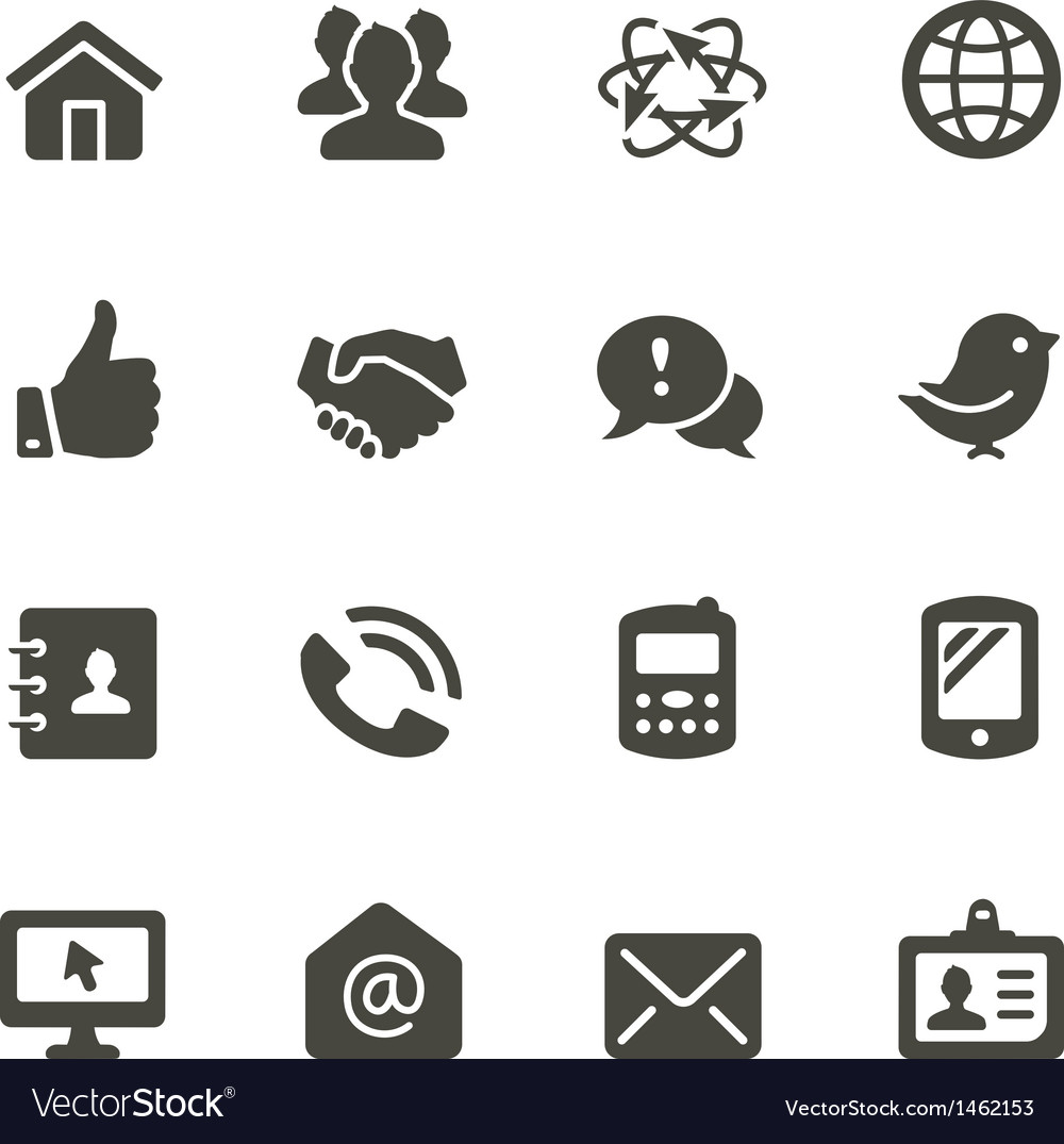 Communication icon set 2 vector | Price: 1 Credit (USD $1)