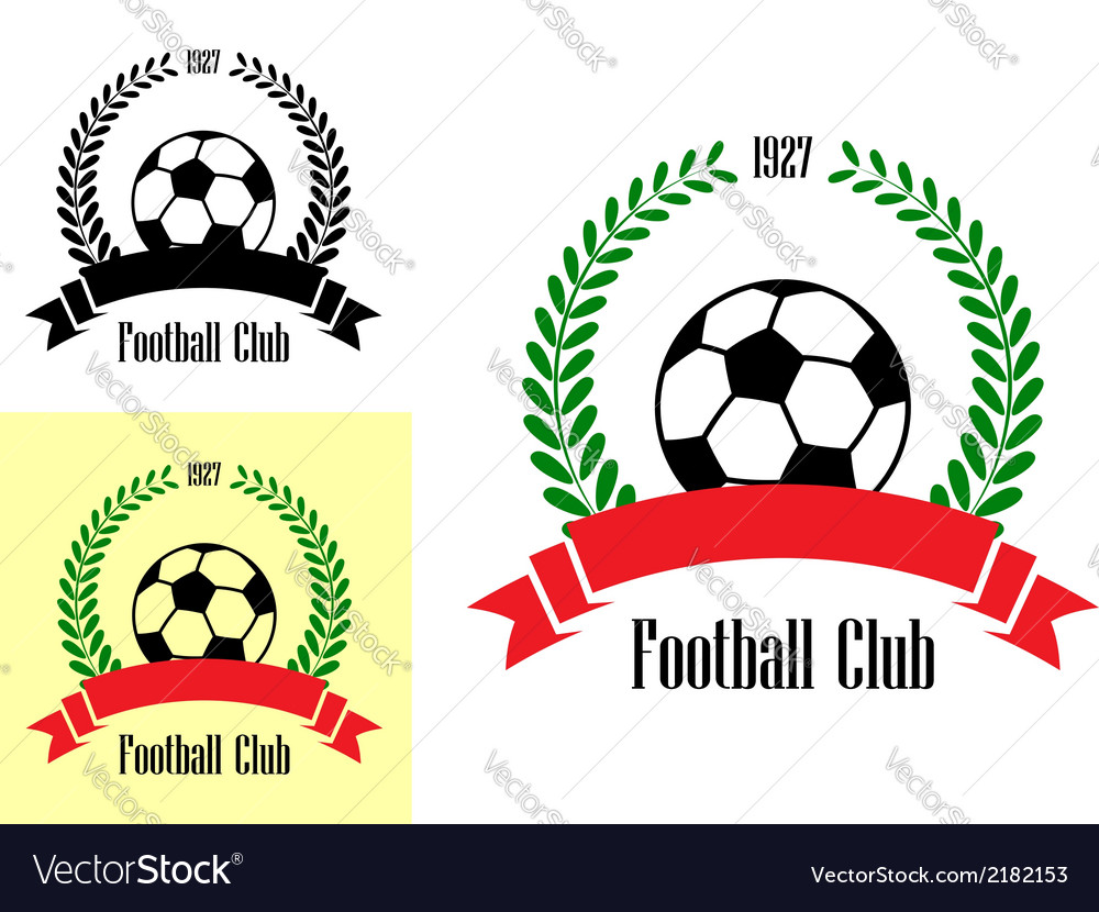 Football club emblems vector | Price: 1 Credit (USD $1)