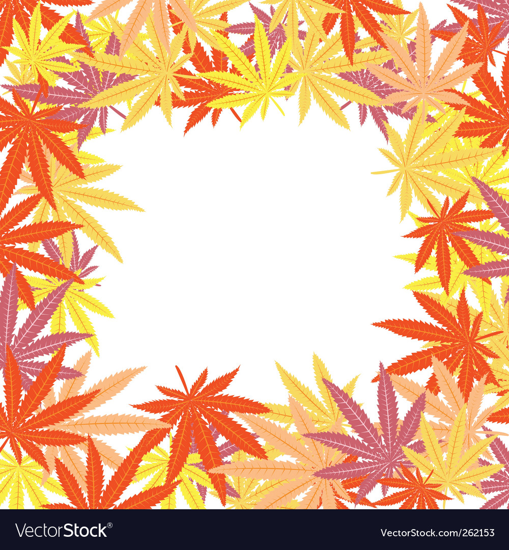 Frame marijuana leaves vector | Price: 1 Credit (USD $1)