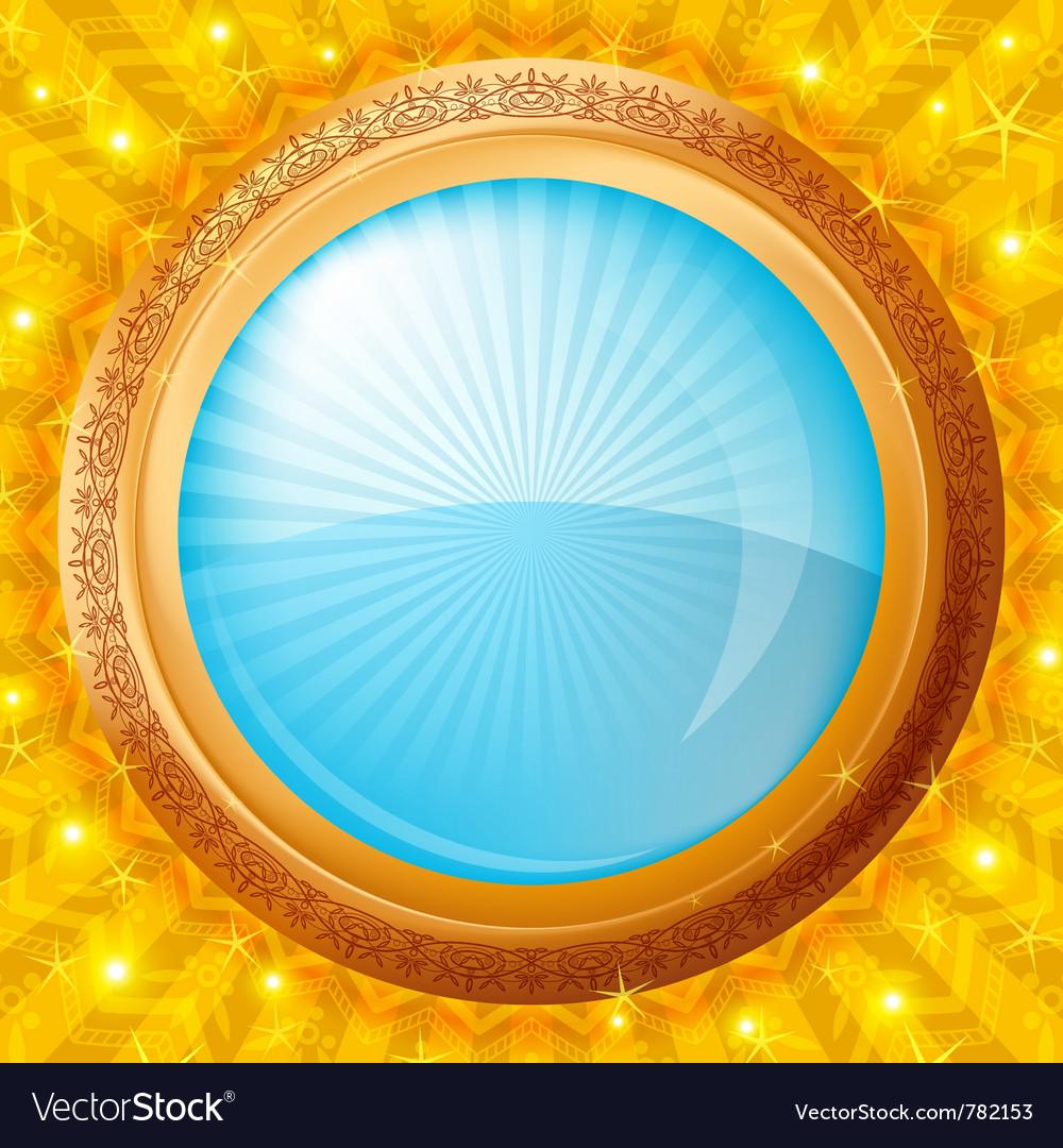 Glass porthole background vector | Price: 1 Credit (USD $1)