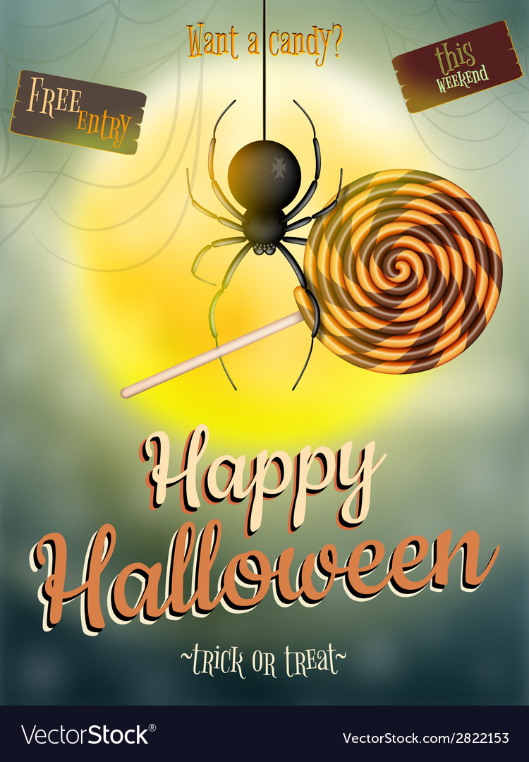 Halloween poster for holiday eps 10 vector | Price: 1 Credit (USD $1)