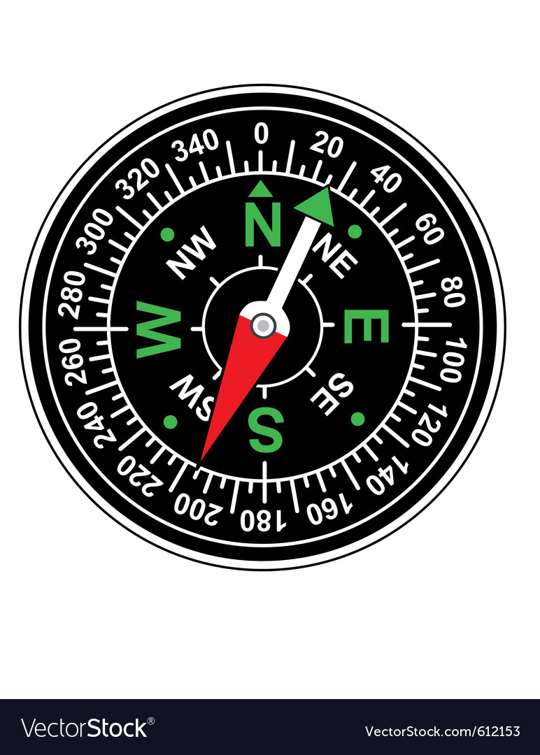 Magnetic compass vector | Price: 1 Credit (USD $1)
