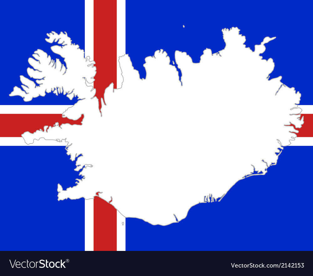 Map and flag of iceland vector | Price: 1 Credit (USD $1)