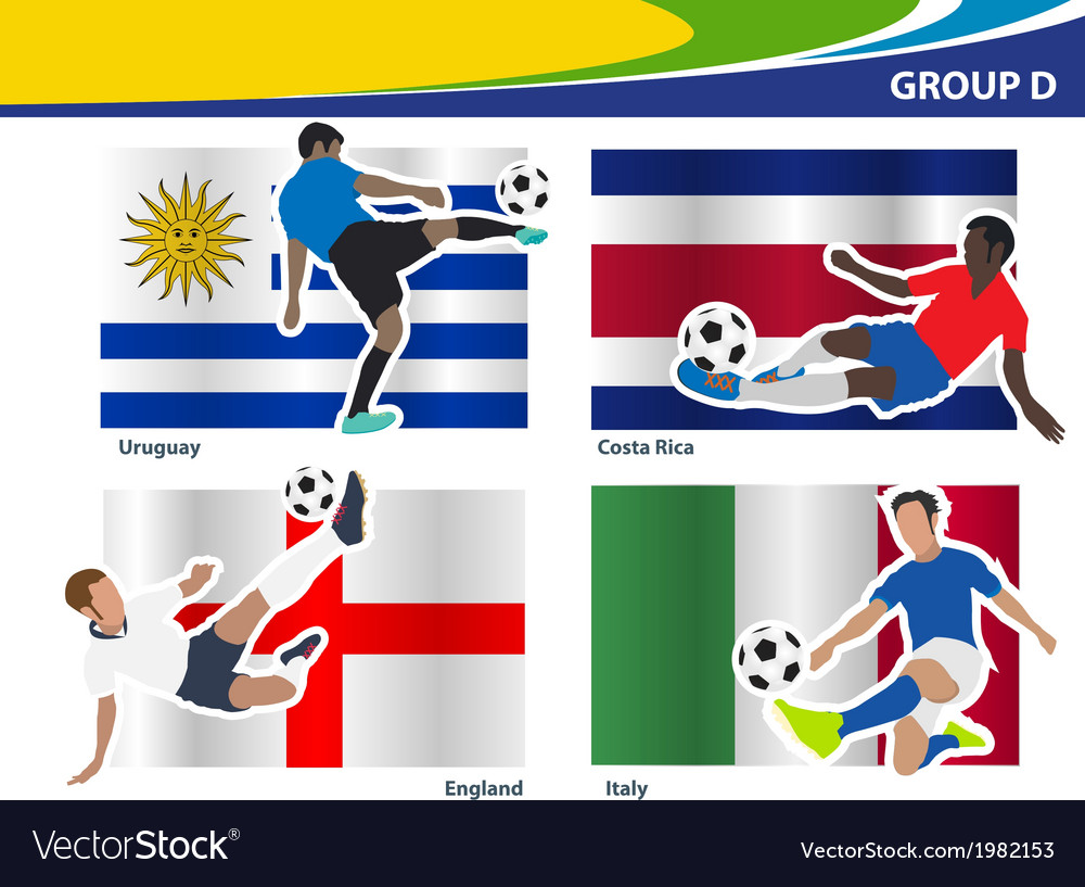 Soccer football players brazil 2014 group d vector | Price: 1 Credit (USD $1)