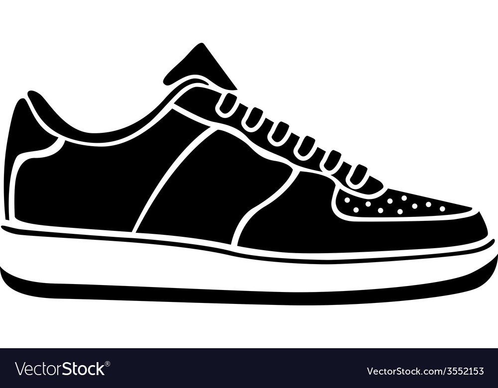Sport clothing white footwear fashion isolated vector | Price: 1 Credit (USD $1)