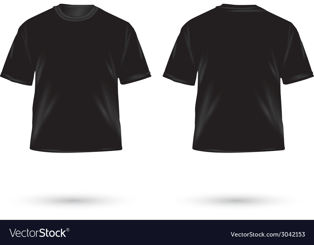 T shirt black vector | Price: 1 Credit (USD $1)