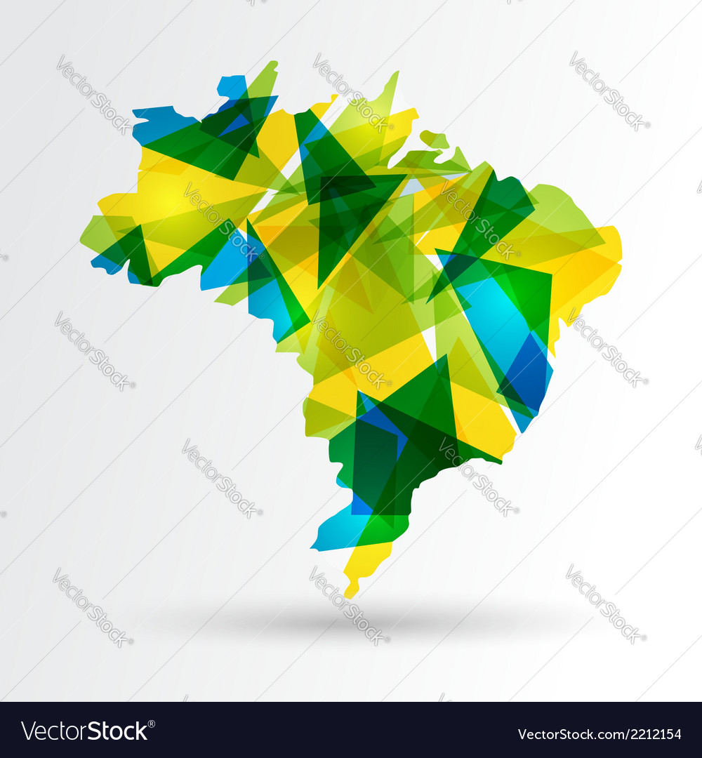 Abstract brazil map vector | Price: 1 Credit (USD $1)
