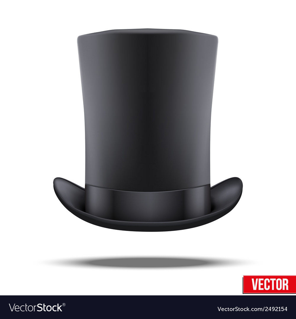 Black big gentleman hat cylinder vector | Price: 1 Credit (USD $1)