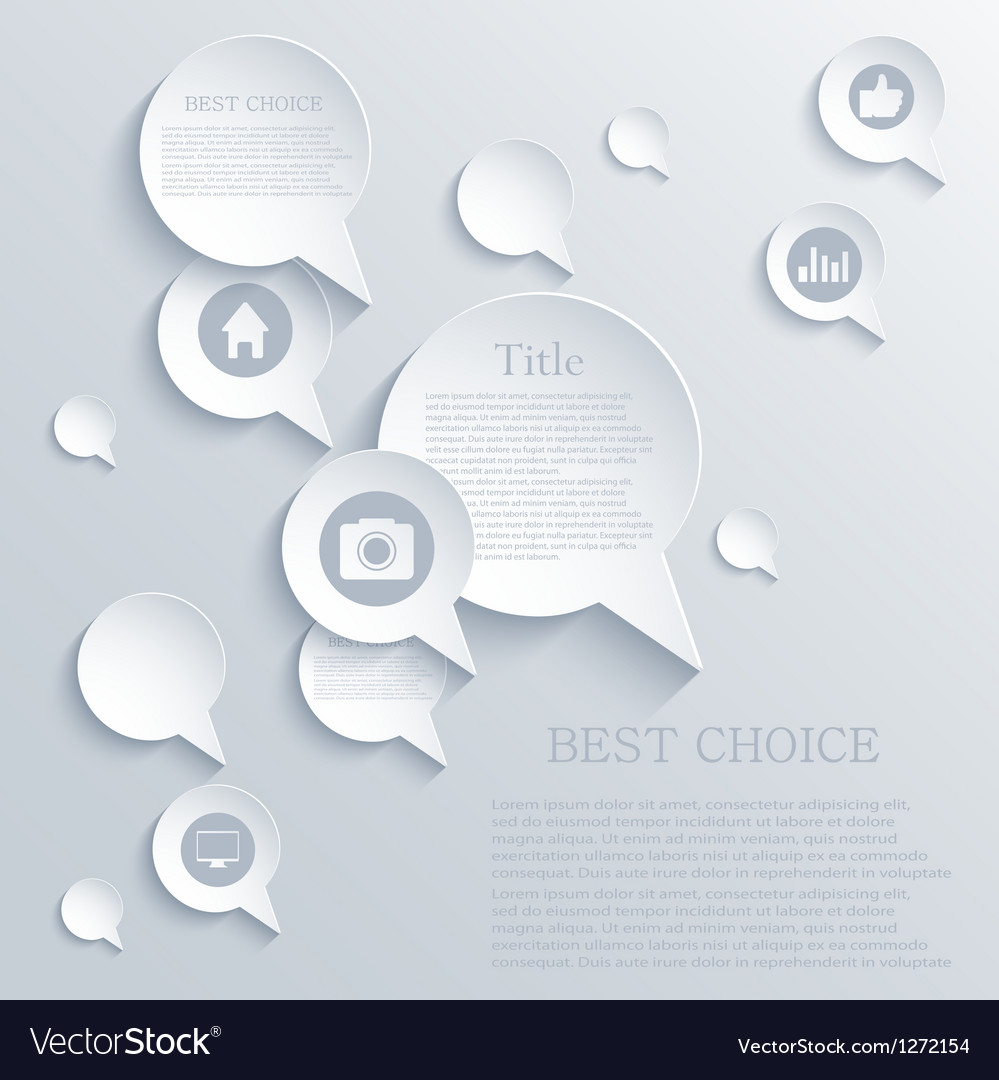 Bubble speech background eps10 vector | Price: 1 Credit (USD $1)