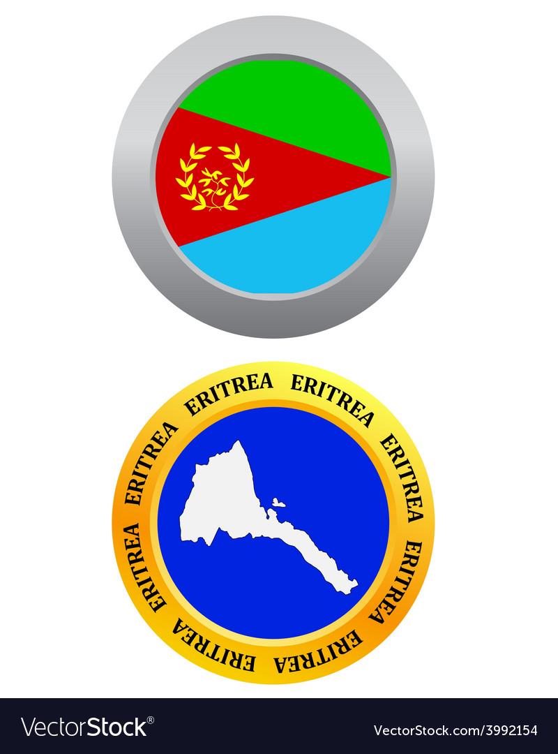 Button as a symbol map eritrea vector | Price: 1 Credit (USD $1)