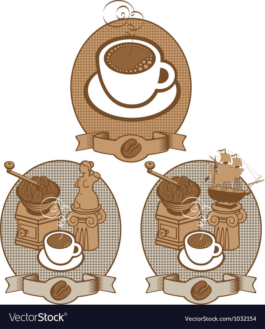 Coffee vintage vector | Price: 1 Credit (USD $1)