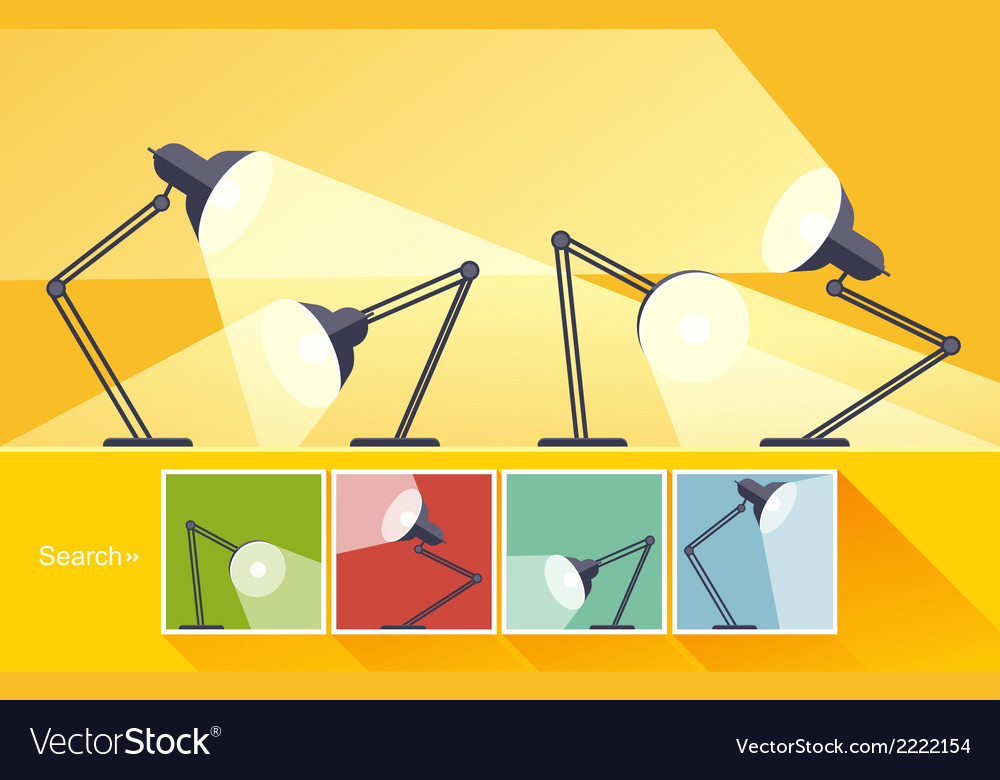 Concept reading-lamp flat design vector | Price: 1 Credit (USD $1)